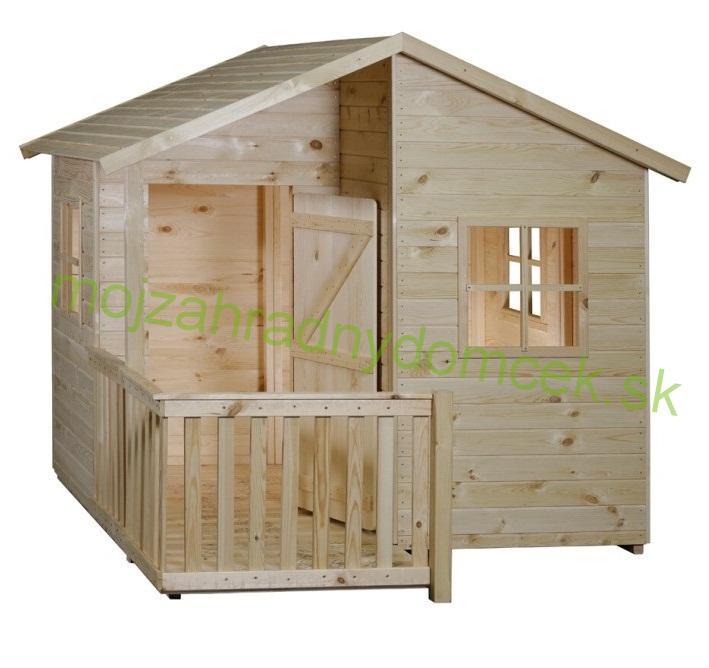 5718a140e1323 Domčeky DETSKÉ | Detský drevený záhradný domček MIA 1,8 x 1,4m, 16mm ...