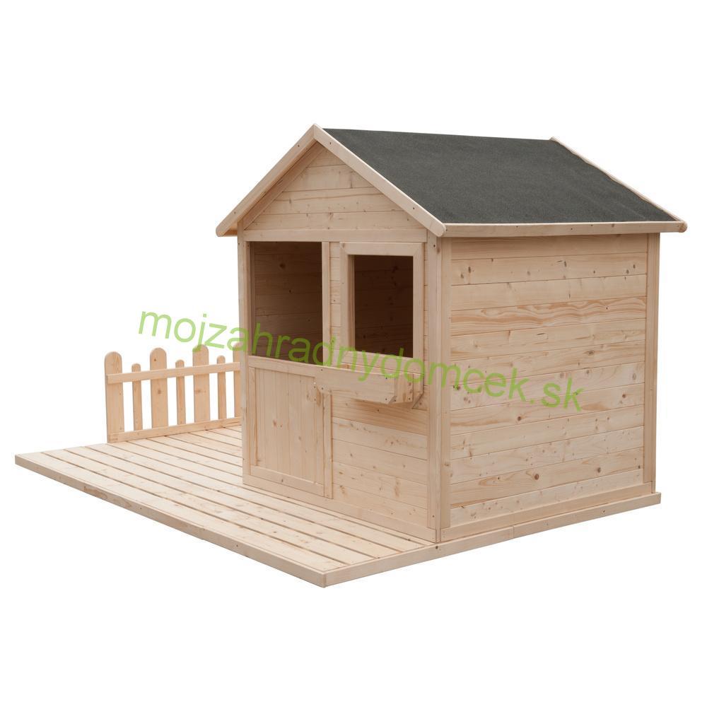 74f2cc6c31346 Domčeky DETSKÉ | Detský drevený záhradný domček s terasou ENY 2,4 x ...