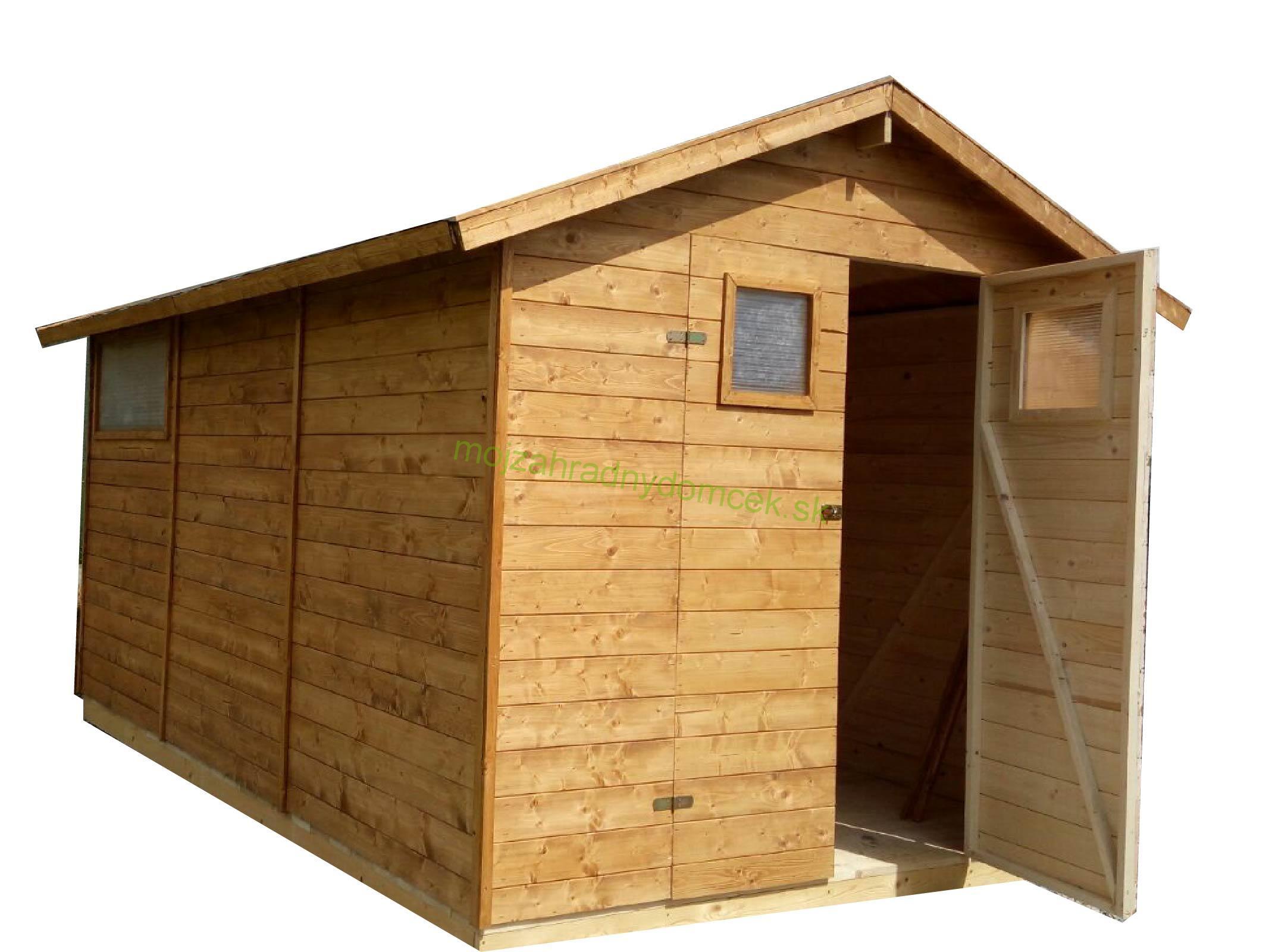 46cf30b4f1d1b Domčeky do plochy 12m2 | Záhradný drevený domček 2,7x3,9m, (16mm) s ...
