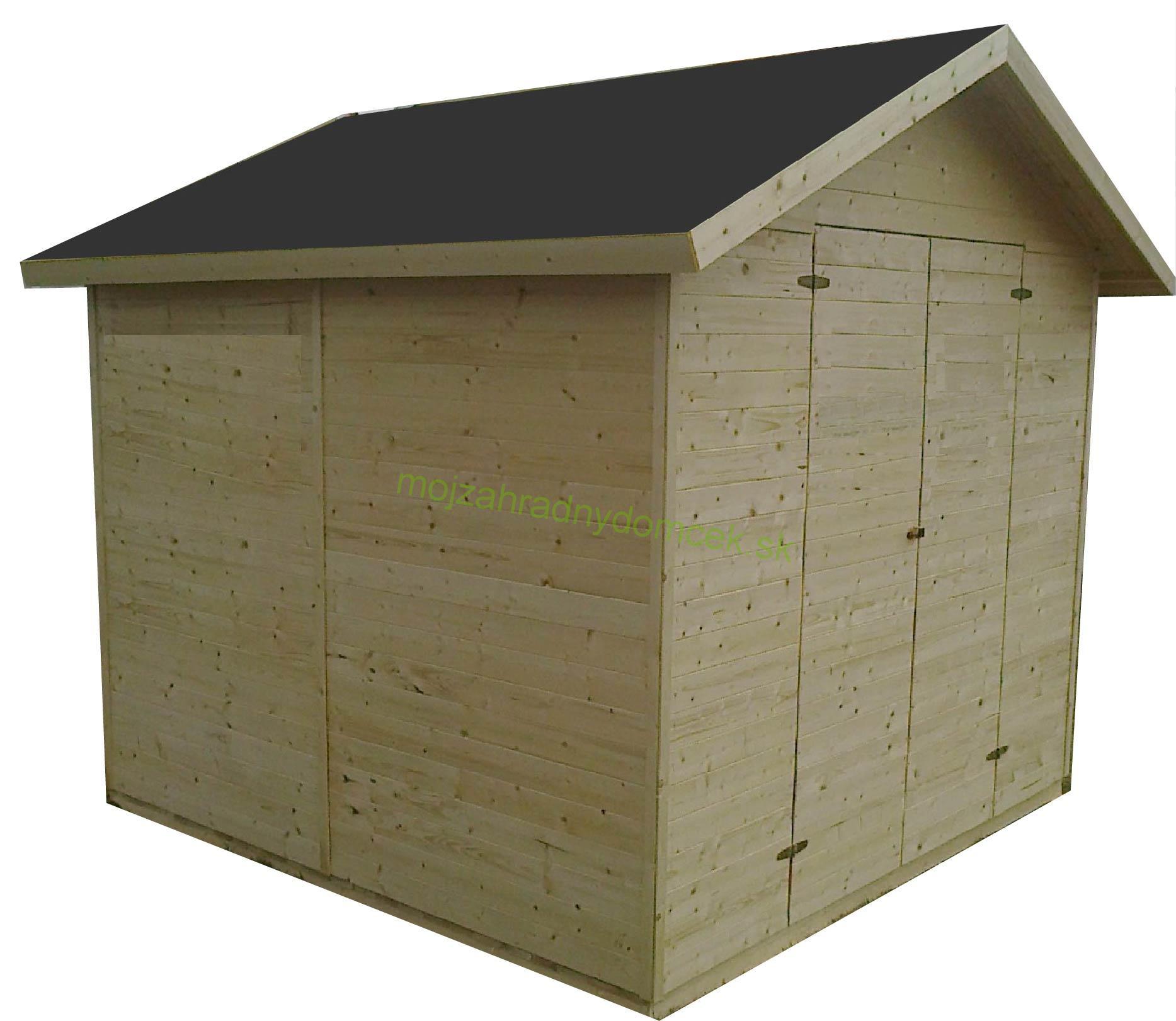 2ab0cb7d030aa Domčeky do plochy 12m2 | Záhradný drevený domček 3,3x3,3m, (16mm ...